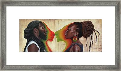 King And Queen Framed Print by Kavion Robinson