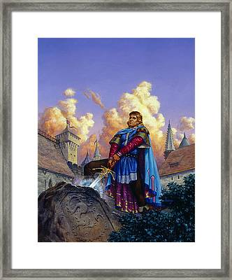 King Arthur Framed Print by Richard Hescox
