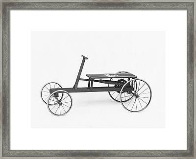 King B Hand Car Framed Print by Underwood Archives
