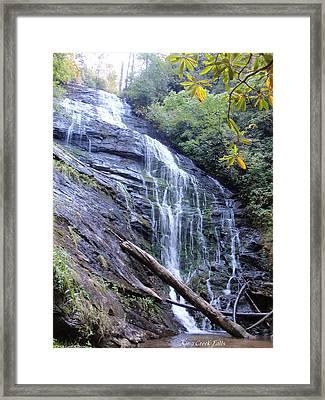 King Creek Falls Oconee County Sc Framed Print by Lane Owen