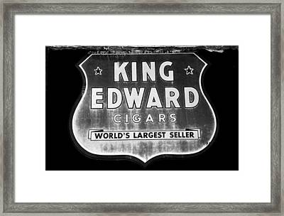 King Edward Cigars Framed Print by David Lee Thompson