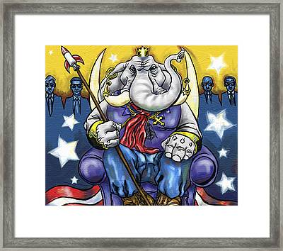 King George Framed Print by Baird Hoffmire