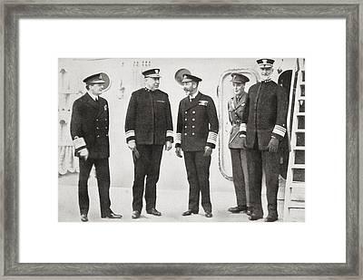 King George V Visits The Fleet At Framed Print by Vintage Design Pics