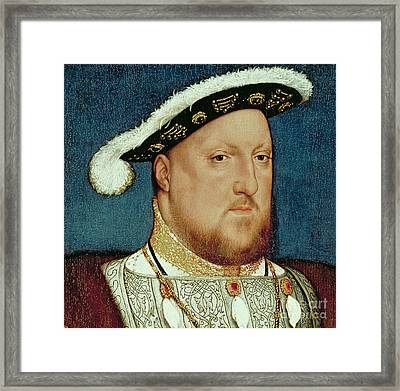 King Henry Viii Framed Print by Hans Holbein the Younger