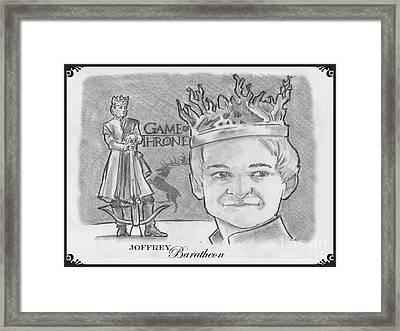 King Joffrey Baratheon Framed Print by Chris  DelVecchio