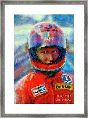 King Kenny Roberts Framed Print by Blake Richards