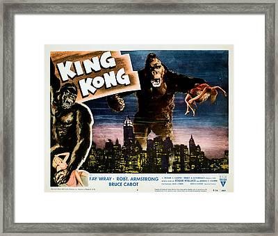 King Kong, Fay Wray, 1933 Framed Print by Everett