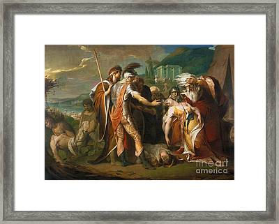 King Lear Weeping Over The Dead Body Of Cordelia Framed Print by MotionAge Designs