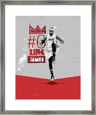 King Of Basketball Framed Print by Jeric Barnutz