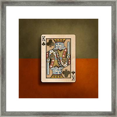 King Of Clubs In Wood Framed Print by YoPedro