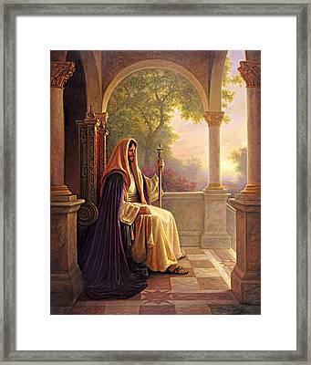 King Of Kings Framed Print by Greg Olsen