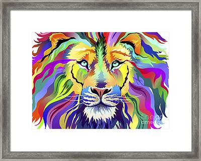 King Of Techincolor Variant 4 Framed Print by Aimee Stewart