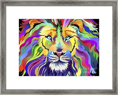 King Of Techinicolor Variant 1 Framed Print by Aimee Stewart