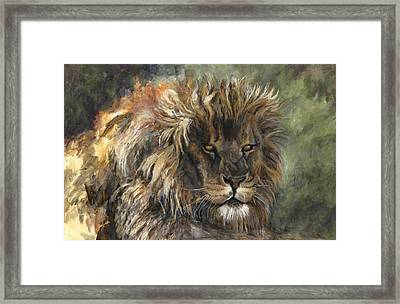 King Of The Beasts Framed Print by Leisa Temple