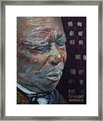 King Of The Blues B B King Portrait Framed Print by Robert Yaeger