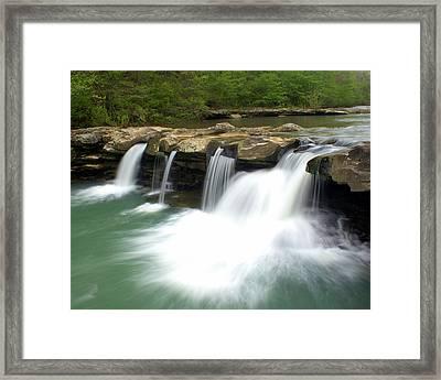 King River Falls Framed Print by Marty Koch