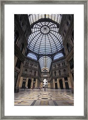King Umberto I Shopping Arcade Framed Print by Richard Nowitz