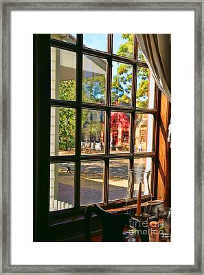 Kings Arms Tavern Window Colonial Williamsburg  4771 Framed Print by Jack Schultz