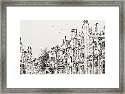Kings College Cambridge Framed Print by Vincent Alexander Booth