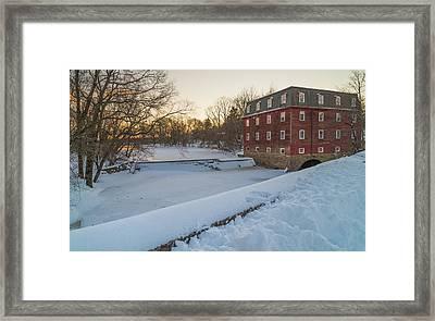Kingston Snow Framed Print by Kristopher Schoenleber