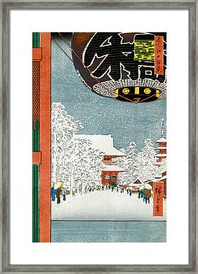 Kinryuzan Temple At Asakusa Framed Print by Hiroshige