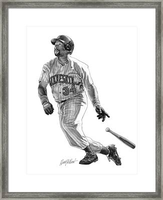 Kirby Puckett Framed Print by Harry West
