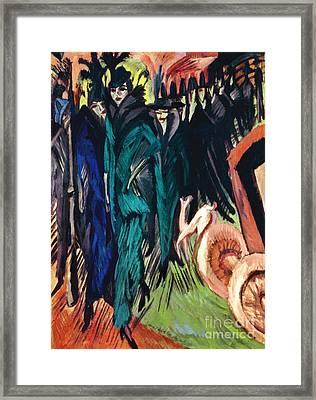 Kirchner: Street Scene Framed Print by Granger