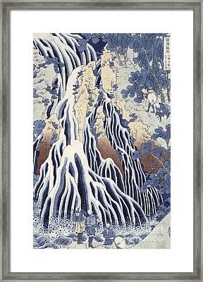Kirifuri Fall On Kurokami Mount Framed Print by Hokusai