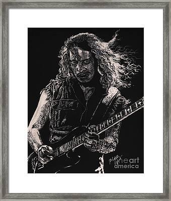 Kirk Hammett Framed Print by Kathleen Kelly Thompson