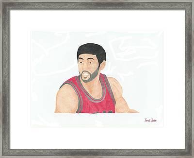Kirk Hinrich  Framed Print by Toni Jaso