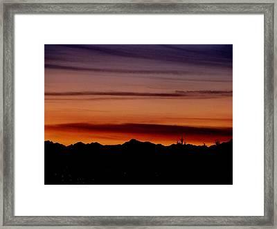 Kirkland At Sunset Framed Print by Barbara Norfleet