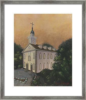 Kirtland Temple Framed Print by Jeff Brimley