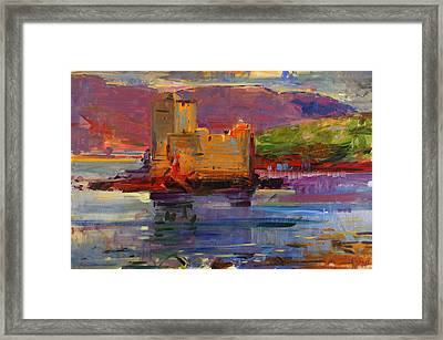 Kisimul Castle And Vatersay Framed Print by Peter Graham