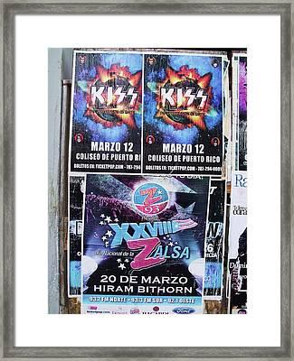 Kiss Concert San Juan Framed Print by Anna Villarreal Garbis