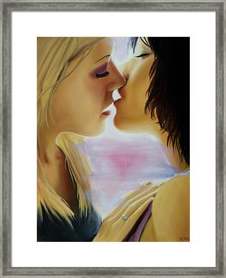 Kiss Number One Framed Print by Forrest King