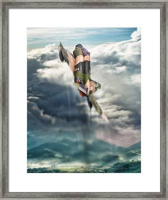 Kiss The Sky Framed Print by Peter Chilelli