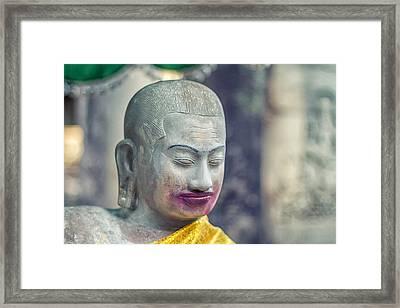 Kissing Buddha Angkor Wat  Framed Print by Stelios Kleanthous