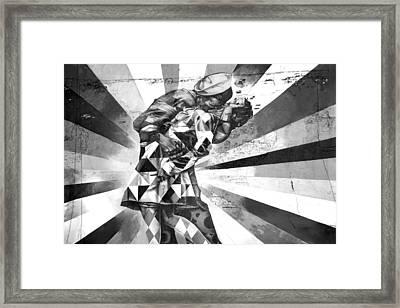 Kissing Sailor Framed Print by Az Jackson