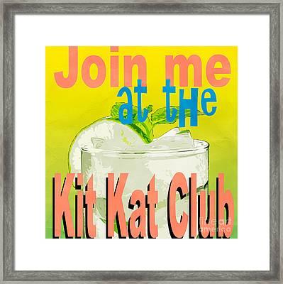 Kit Kat Club Square Framed Print by Edward Fielding