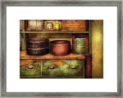Kitchen - Food - The Cake Chest Framed Print by Mike Savad