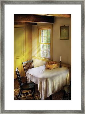Kitchen - The Empty Basket Framed Print by Mike Savad
