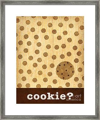 Kitchen Art - Cookie Framed Print by Linda Tieu