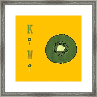 Kitchen Kiwi Framed Print by Kathleen Sartoris
