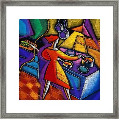 Kitchen  Framed Print by Leon Zernitsky