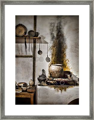 Kitchen Of The Past Framed Print by Heather Applegate