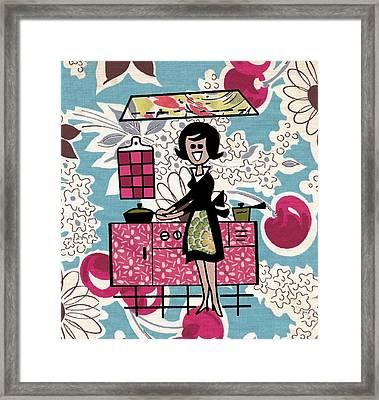 Kitchen Time Framed Print by Desiree Warren