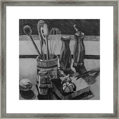 Kitchen Utensils Still Life Framed Print by Stephen Boyle