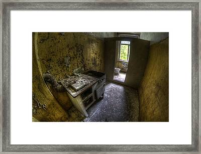 Kitchen With A Loo Framed Print by Nathan Wright