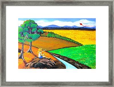Kite Framed Print by Cyril Maza