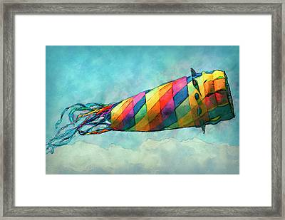 Kite Framed Print by Jack Zulli